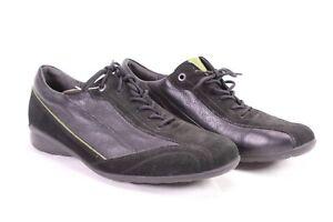 C1673 Theresia M. Damen Komfort Sneaker Halbschuhe Leder Gr. 40 (6,5 H) schwarz