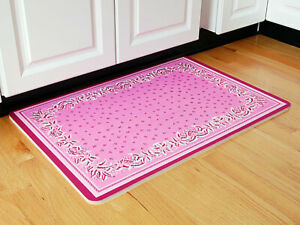Provence Cushioned Kitchen Mat Pink