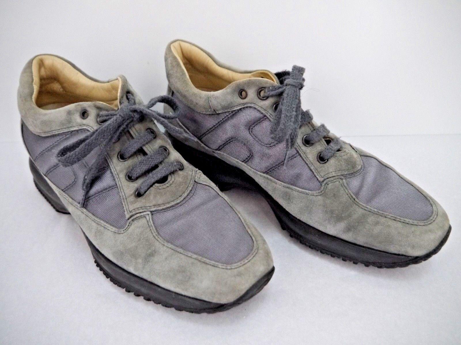 HOGAN INTERACTIVE gray suede nylon sneakers athletic style schuhe Damens's Größe 39