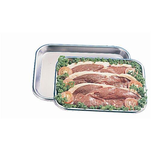 """Petit plat plateau bouchers 12 po x 9,5 /""""affichage en acier inoxydable viande cuite brut"""