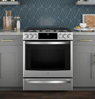 """GE Profile 30"""" Dual Fuel Slide-In Range with WIFI- *IN STOCK!* Bedford Halifax Preview"""
