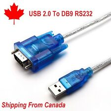 USB 2.0 to 9 Pin DB9 Converter COM Serie RS232 Cable Port Adapter A011
