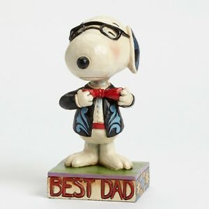 Peanuts-Best-Dad-Fathers-Day-Snoopy-in-a-Tie-by-Jim-Shore-NEW-in-Box-24208