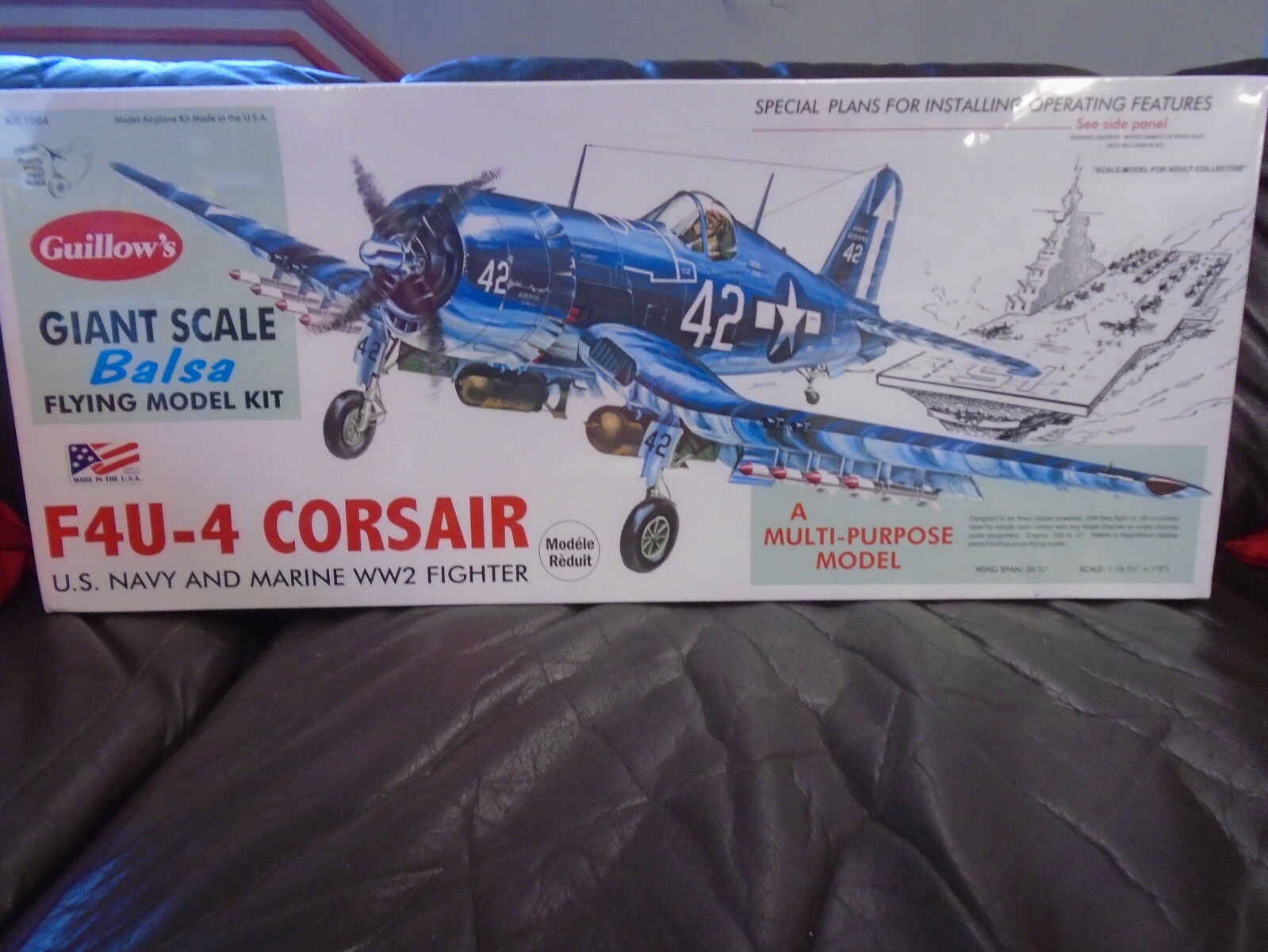 Guillows   1004 f4u-4 corsair balsaholz flugzeug modell kit new in box