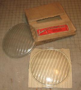 Vtg LENEX PLYMOUTH 1935 DeSoto Chrysler Headlamp Lens H-154 - New Old Stock NOS