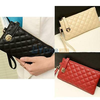 Women Leather Messenger Bag PU Purse Card Coin Wallet Clutch Zipper Long Handbag