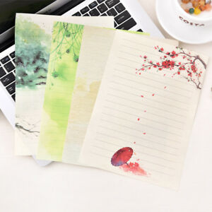 8 Pieces Chinese Style Poetry Rhyme Letter Paper Invitation Stationery Paper