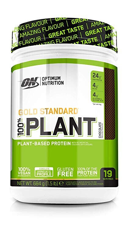 Optimum Nutrition Gold Estándar Planta Proteína 684g en Vegano - Chocolate
