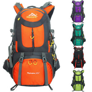 b1344e3ad9ec Image is loading 50L-Outdoor-Mountaineering-Backpack-Waterproof-Camping- Hiking-Laptop-