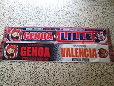 lotto 2 sciarpe GENOA FC europa league football club scarf lot