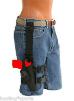 Tactical Leg Holster Fits Beretta 92 Series Rh Black Nylon