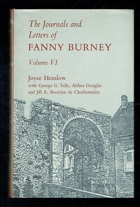 The Letters and Journals of Fanny Burney. Volume VI Oxford. 1975 VG