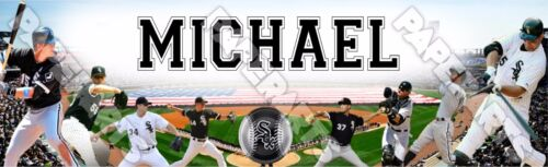 """Chicago White Sox Poster Banner 30/"""" x 8.5/"""" Personalized Custom Name Printing"""