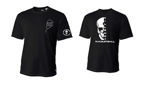 Killshot RacquetballPerformance Half Skull T Shirt Short Sleeve
