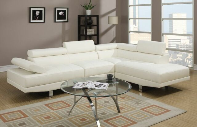 Astonishing Modern Leather Sectional Sofa Chaise Couch Set Soft Living Room Furniture White Ibusinesslaw Wood Chair Design Ideas Ibusinesslaworg