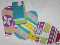 100% Cotton 48 X 14 Bright Easter Egg Table Runner + 4 Coordinating Napkins