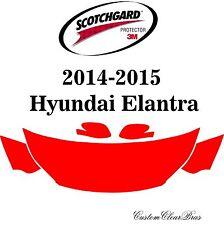 3M Scotchgard Paint Protection Film Clear Bra Fits 2014 2015 Hyundai Elantra