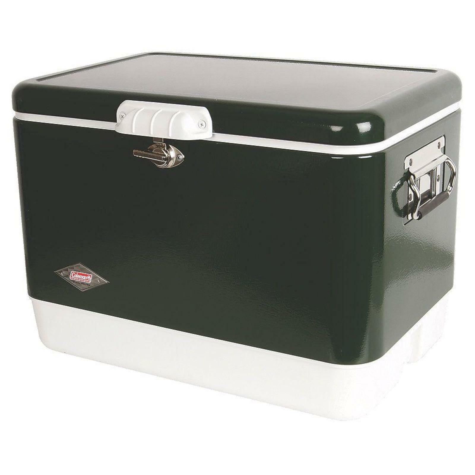 Steel 54 Qt. Chest  Cooler 85 Cans Thermozone Outdoor Camping Storage Rust proof  great offers