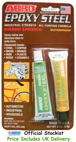 Abro Adhesivo Epoxi De Acero ES-506 fuerza industrial 57g establece en 60-90 minutos