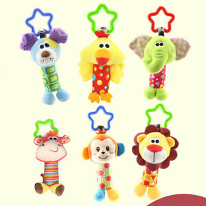 Baby-Infant-Rattles-Plush-Animal-Stroller-Hanging-Bell-Play-Toy-Soft-Bed-Doll-FA