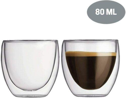 80 ml double paroi Espresso Tasses à café