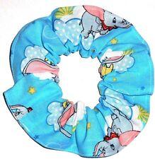 Disney Dumbo Blue Cotton Fabric Hair Scrunchie Scrunchies by Sherry