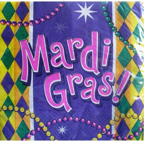 MARDI GRAS LUNCH NAPKINS ~ Birthday Party Supplies Paper Dinner Serviettes 20