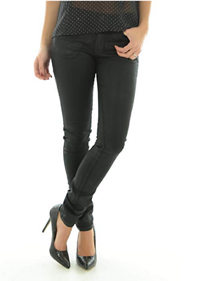 Hell Skinny Black Trousers By Vero Moda Ladies Womens Slim Coated 6 8 10 12 14 üPpiges Design