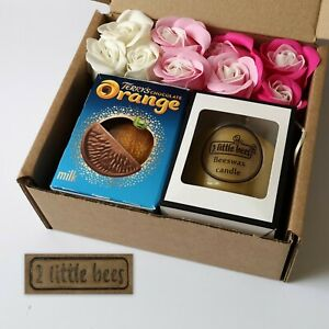 Gift-set-Beeswax-candle-White-box-Glass-Soap-flowers-Chocolate-Wedding-Bath