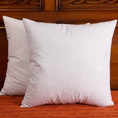 Set of 2, 18x18 Inch, Down and Feather Pillow Insert, The Fabric is Cotton