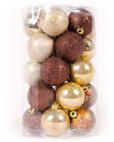 Xploit 12PCS Christmas Balls Ornaments for Xmas Tree Decorations Large Hanging Ball Shatterproof