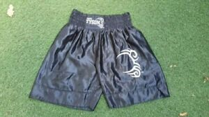 MENS-MIKE-TYSON-BLACK-BOXING-SHORTS-TRUNKS-SIZE-XL-X-LARGE-OFFICIAL