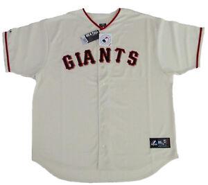 San-Francisco-Giants-MLB-Majestic-Ivory-Big-amp-Tall-Home-Men-039-s-Replica-Jersey