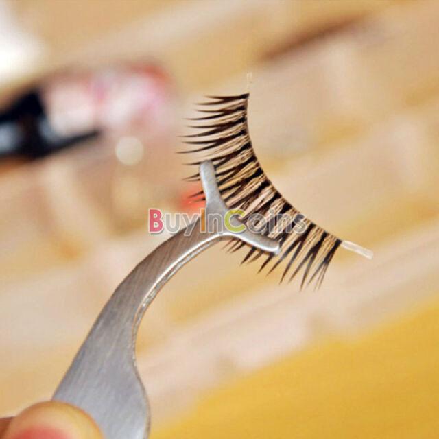 Useful Applicator Remover False Eyelashes Tweezer Clip Makeup Nipper Tool