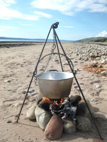 dutch oven bush craft iron fire Scouts Extra Long 140cm  Cooking Camping Tripod
