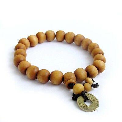 10mm*9mm Wood Beads Tibet Buddhist Prayer Bracelet Mala