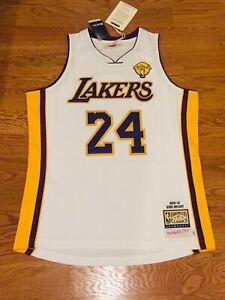 100% AUTHENTIC Kobe Bryant 2009-2010 LA Lakers M&N NBA FINALS ...