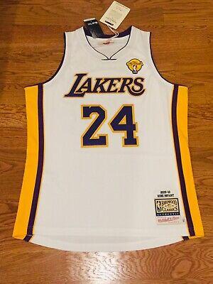 100% AUTHENTIC Kobe Bryant 2009-2010 LA Lakers M&N NBA FINALS Jersey 44 L   eBay