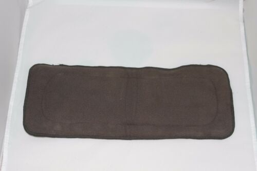One Size Charcoal Bamboo Cloth Diaper with pocket /& Insert Fits 10-40lb