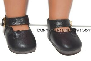 Black-Bow-Mary-Jane-Shoe-14-034-Doll-Clothes-Fits-American-Girl-Doll-Wellie-Wishers