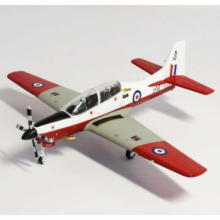 BRITTISH KORT TUCANO T1 RAF CENTRAL flygagaGPLAN ZF141  72 tärningskast plan AV72