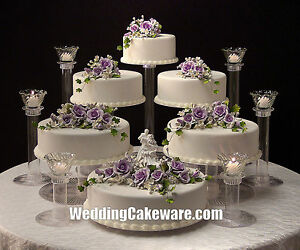 Elegant Image Is Loading 6 TIER CASCADING WEDDING CAKE STAND STANDS 6