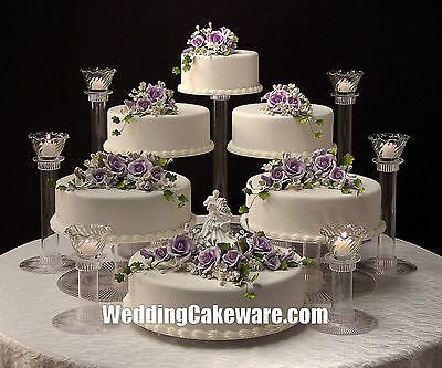 6 TIER CASCADING WEDDING CAKE STAND STANDS / 6 TIER CANDLE STAND SET