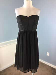 df669f30 Max & Cleo BCBG Black Strapless Cocktail Party Dress Excellent S 6 ...