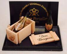 Dom Pérignon Champagne Set 1.860/8  Reutter Dollhouse miniature 1/12 scale