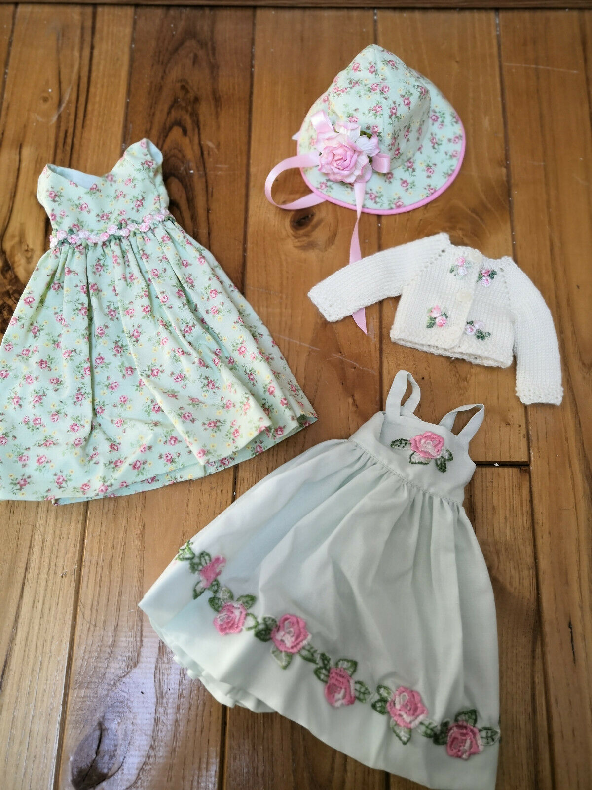 Monet's meadow OOAK outfit for Effner 13  Little Darling by Glorias Garden