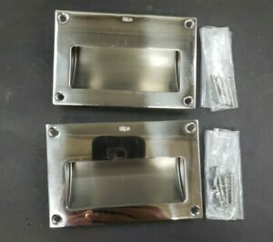 Recessed Handle Set Sliding Door Lock Silver Household Replace Attachment Useful