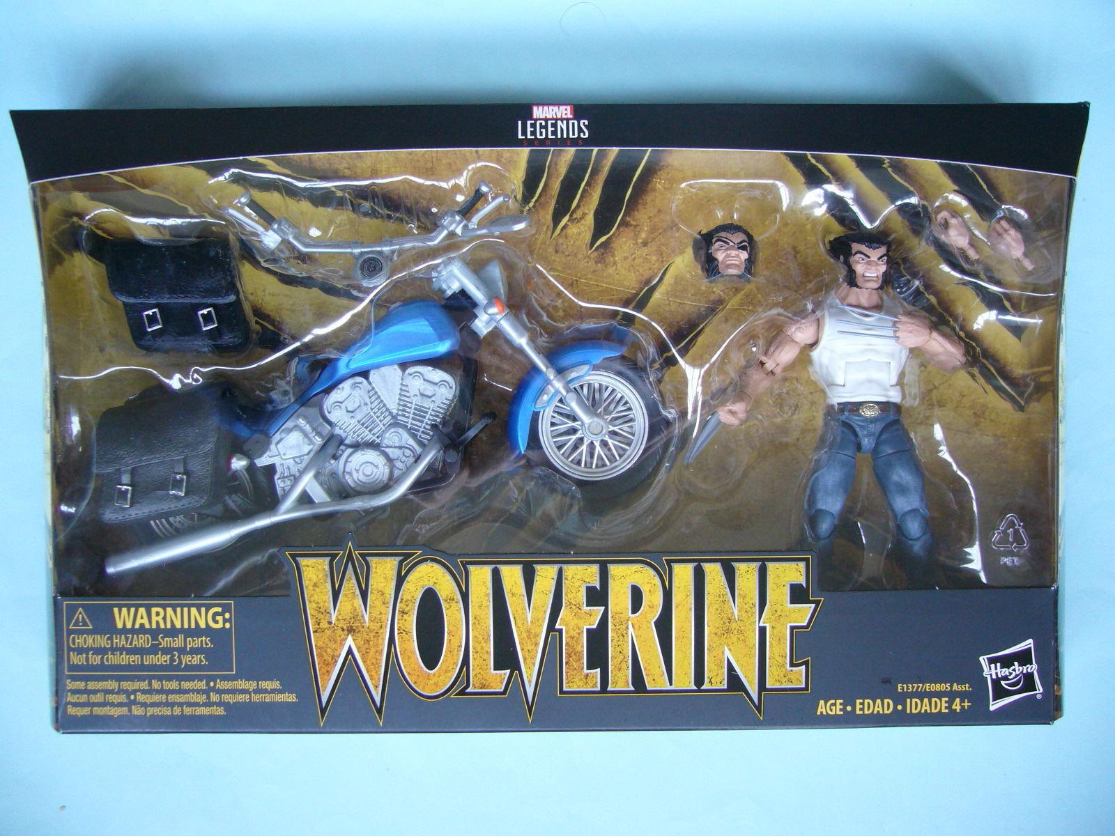 2018 MARVEL LEGENDS 6 pollici Ultimate Wolverine Con Moto Nuovo di zecca con scatola  In Stock