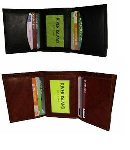 38e287dc50d8 Image is loading Genuine-Real-Leather-Tri-Fold-Trifold-Wallet-Credit-
