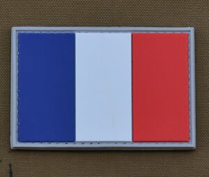 PVC-Rubber-Patch-034-French-Flag-034-with-VELCRO-brand-hook